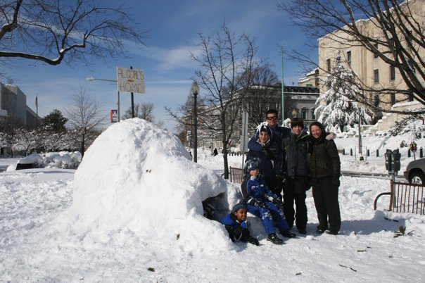 The Inhofe family igloo
